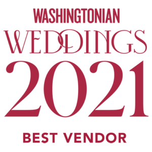 Washingtonian Weddings Best Vendor 2021 (White)